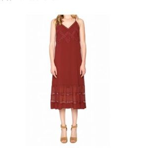 Willow & Clay Burgundy with lace dress